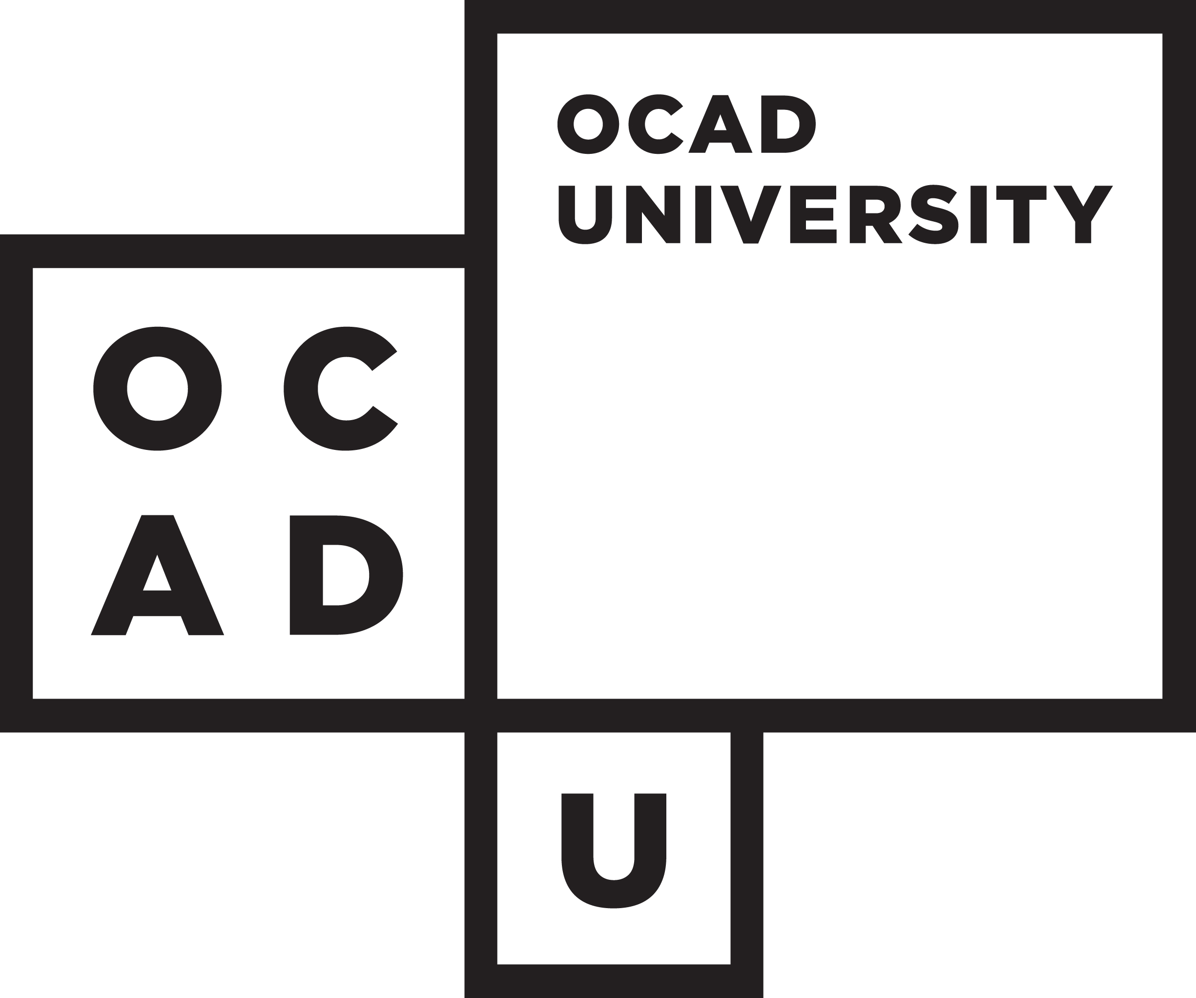 OCAD U Logo ON WHT ocad university HORIZONTAL
